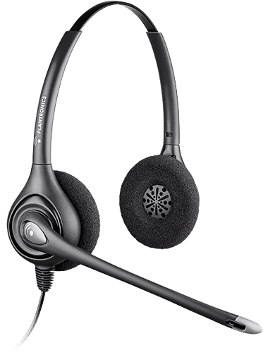 Plantronics HW261 Corded Binaural Noise Cancelling Headset