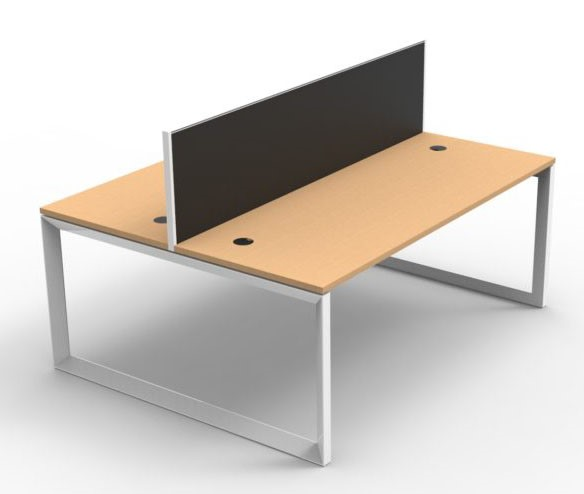 Infinity Loop Leg Double Sided Workstation