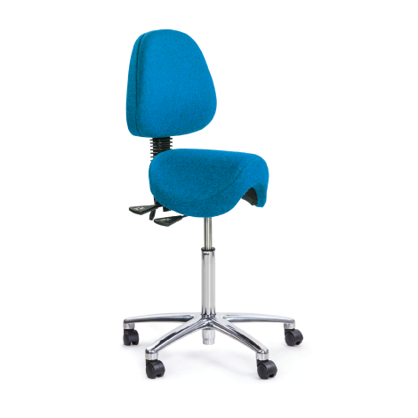 Ergo Saddle Stool with Back Rest By Sit Stand Step